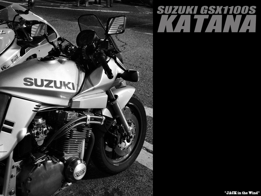 Gsx1100sカタナ壁紙 Pc用 スマホ用 Katana Wallpaper Jack In The Wind Suzuki Gsx1100s Katana カタナ でリターンライダーになった危険な話